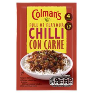 Jasa Internacional. Colman's. Chili con carne