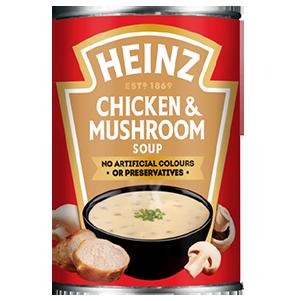 Jasa Internacional. Heinz. Sopa de pollo y champiñones