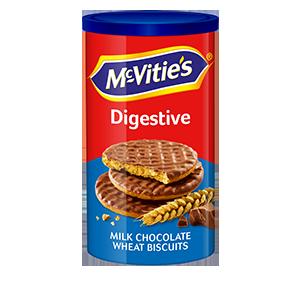 Jasa Internacional. McVitie's. Digestivas Chocolate Con Leche Tubo