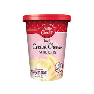 Jasa Internacional. Betty Crocker. Cobertura de Cream Cheese